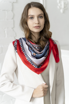 Платок женский сине-красный MYLIKE